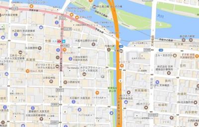 【地図】北浜プライマリーワン