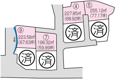 【区画図】佐川町加茂 9号地