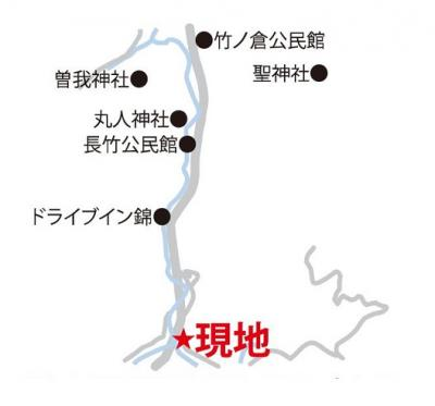 【地図】佐川町加茂 倉庫付