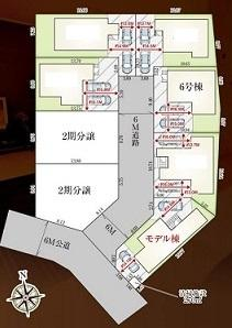 【区画図】カースペース2台可能な新築戸建て さいたま市緑区松木9期