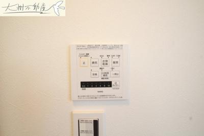 浴室暖房乾燥機付きで室内干しも安心
