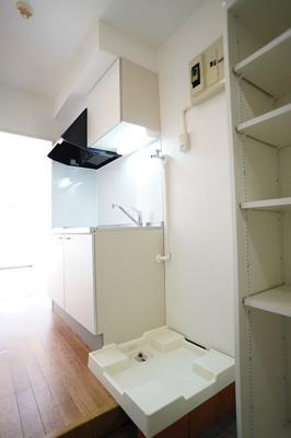 洗濯機置き場はもちろん室内♪
