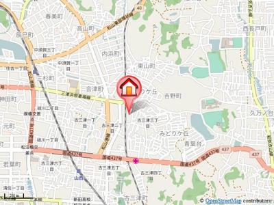 【地図】プレミノール古三津C