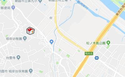 【地図】レオネクストスリムヒルズ(42306-106)