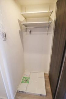 室内洗濯機置場。ロール