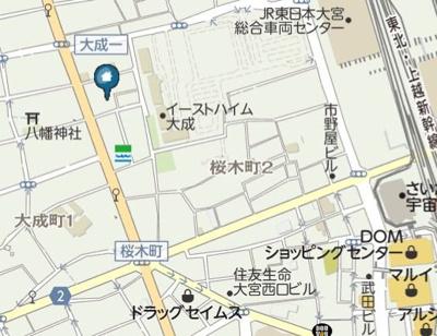 【地図】ONE FOR ALL 大宮(ワンフォアオールオオミヤ)