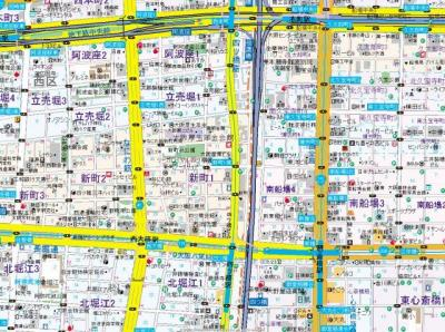 【地図】テラスレジデンス四ツ橋