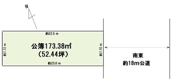 【土地図】売地 松戸市松戸