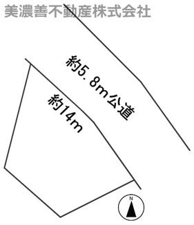 【区画図】56395 岐阜市城望町土地