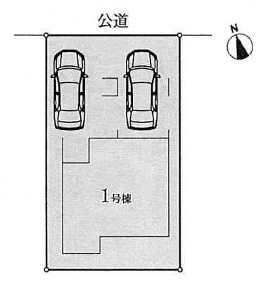 【区画図】名古屋市昭和区元宮町4丁目17−2【仲介手数料無料】新築一戸建て 1号棟