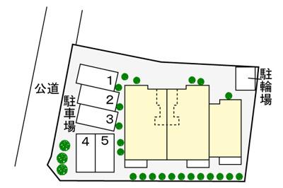 【駐車場】メゾン・クレ-ル