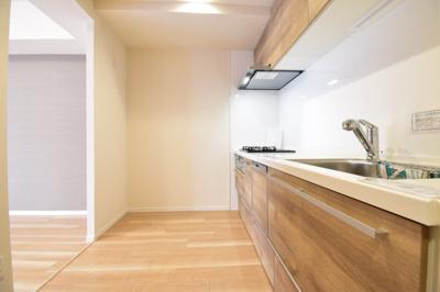 新規交換済みのシステムキッチンは気持ちよく生活をスタートできます。食洗機付きで奥様にも嬉しい仕様です