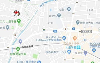 【地図】レオパレスダックス(38493-104)