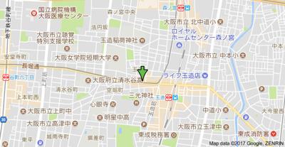 【地図】セイワパレス玉造上町台