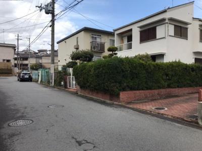 【前面道路含む現地写真】堺市南区高倉台 土地