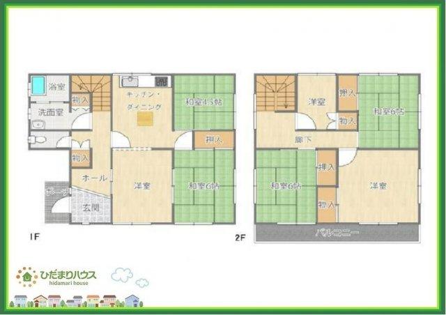 2階は全居室収納付きで収納豊富(*^^*)