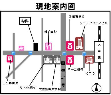 【地図】桜の木YOSHINO