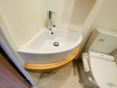使いやすい独立洗面台です