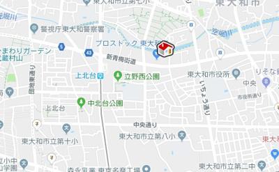 【地図】レオパレスフローライト(34504-203)