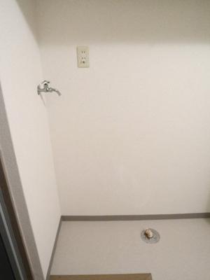 室内洗濯機置場です(^_-)-☆