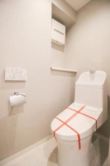 温水洗浄暖房機能付き便座トイレ