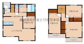 千葉市若葉区桜木 中古一戸建て 桜木駅 2面バルコニー、全室収納付き!