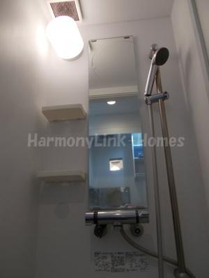 ハーモニーテラス高田馬場のコンパクトで使いやすいシャワールームです(別部屋参考写真)