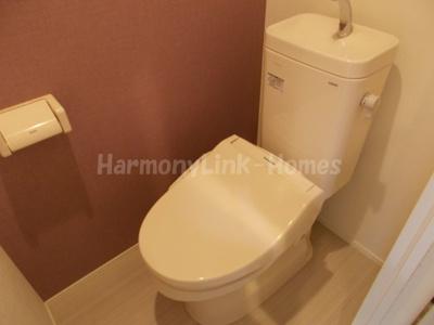 ハーモニーテラス高田馬場のゆったりとした空間のトイレです