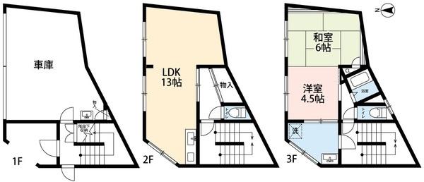 鉄骨造3階建て、オール電化住宅です。