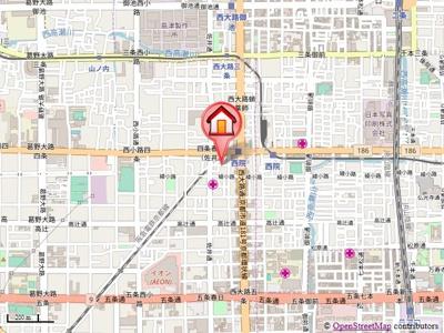 【地図】グランレブリー西院