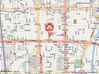 【地図】珠光ビル西洞院