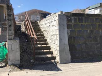 敷地内への階段