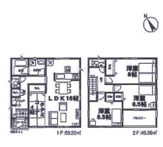 船橋市松が丘 新築戸建て 高根公団駅 1号棟です。