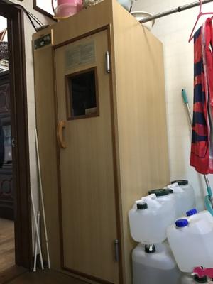 洗面所に設置してあるサウナ