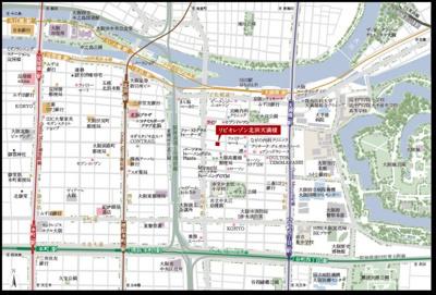 【地図】リビオレゾン北浜天満橋