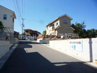 【前面道路含む現地写真】奈良市六条西2丁目の売地 全12区画 -Ⅱ期分譲