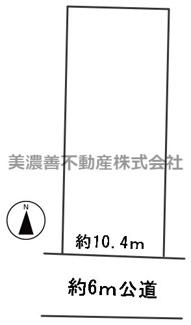 【区画図】56420 岐阜市鏡島精華土地