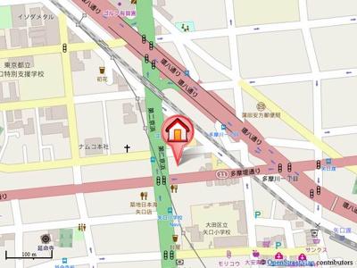 【地図】COURT BREEZE 多摩川