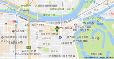 【地図】グランシス天満橋