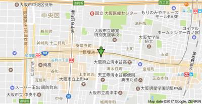 【地図】キャピトル安堂寺