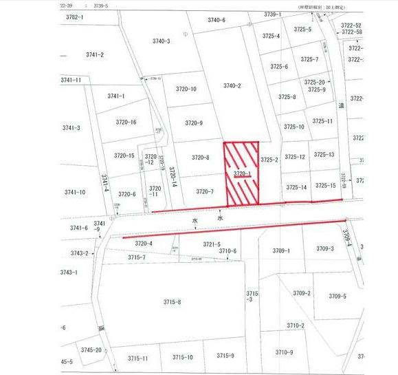 【土地図】南アルプス市飯野 売地