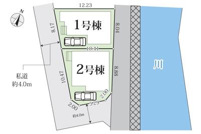【区画図】新築 相模線 上溝駅 中央区 上溝 性能評価