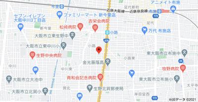 【地図】生野区小路2丁目戸建