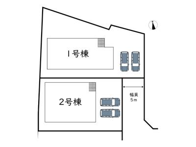 【区画図】姫路市砥堀19-2期/全2棟