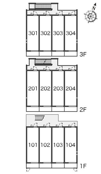 【区画図】クレイノユニバーサルパレス