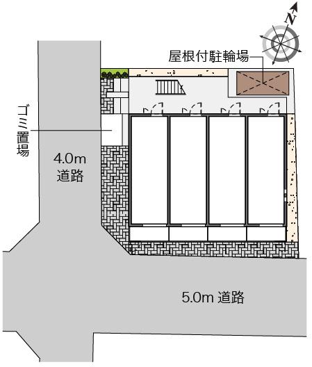 【地図】クレイノユニバーサルパレス