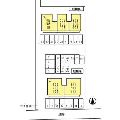 【区画図】コリド黒田 A棟