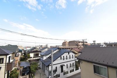小金井の街並みを一望できる眺望。開発で更に元気になってきている武蔵小金井エリアを堪能できます。