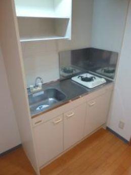 マナ板が置けるスペースのあるガスキッチン☆(同一仕様写真)