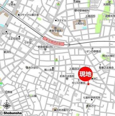 【地図】K'Sヴィラ中野B